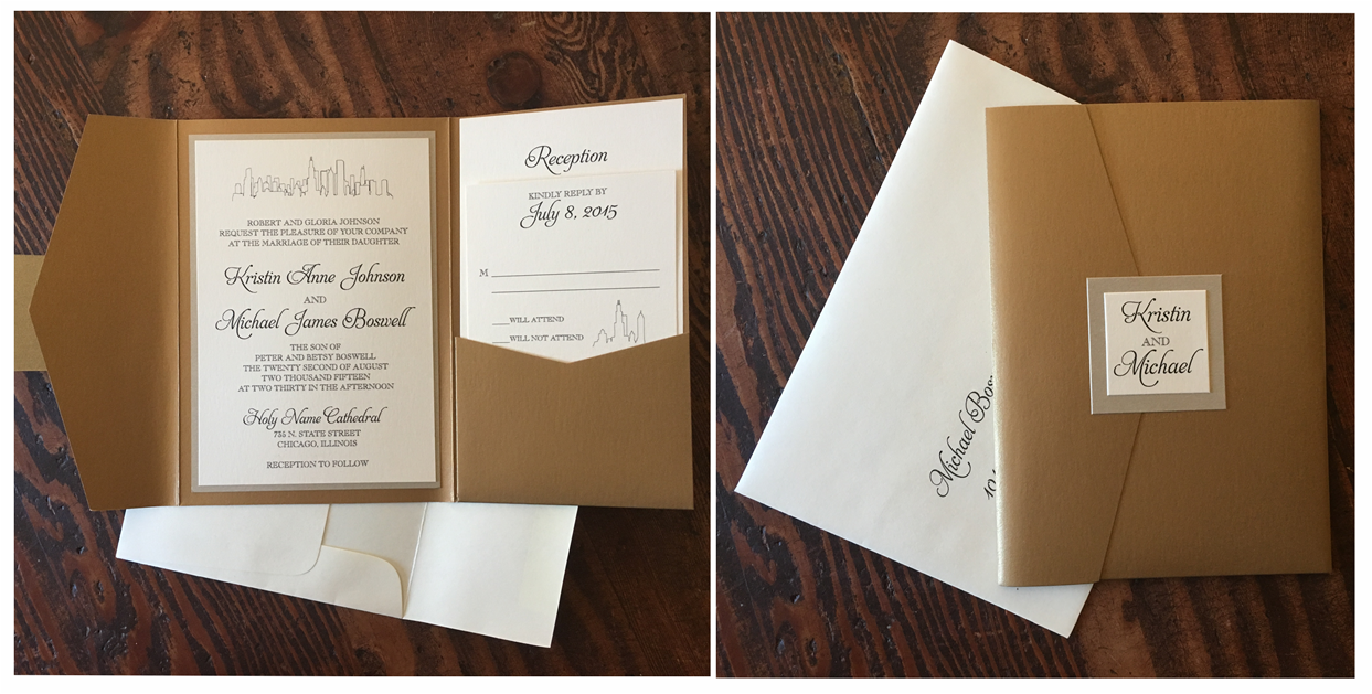Pocket Wedding Invitations – Erickson Design