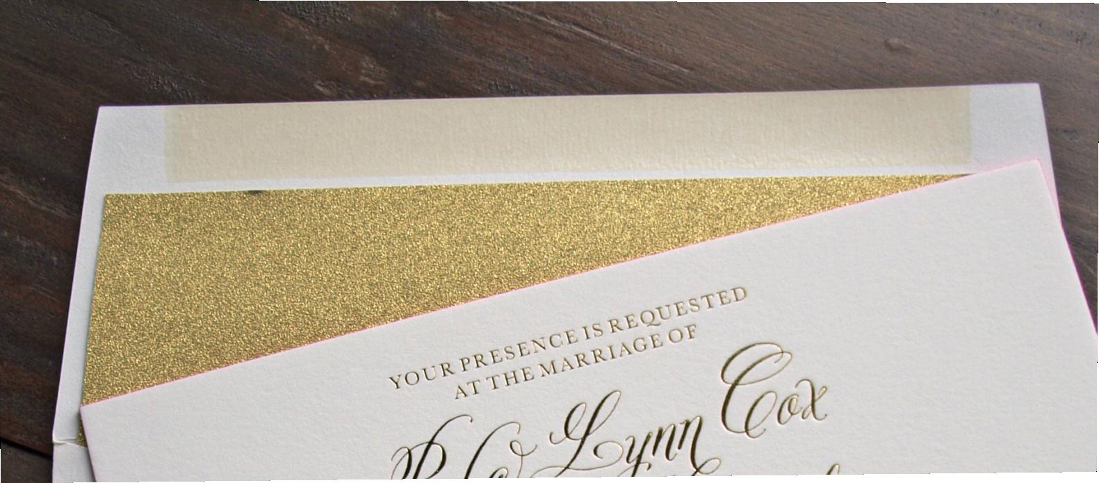 erickson design gold glitter envelope liner
