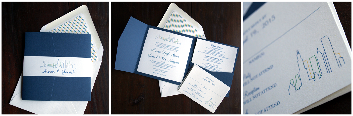 erickson design invitation suite skyline and stripes