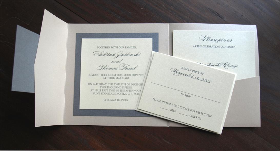Pocket Wedding Invitations – Erickson Design