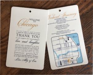 erickson design wedding welcome bag letter chicago custom map navy and gold