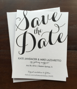 large save the date font erickson design