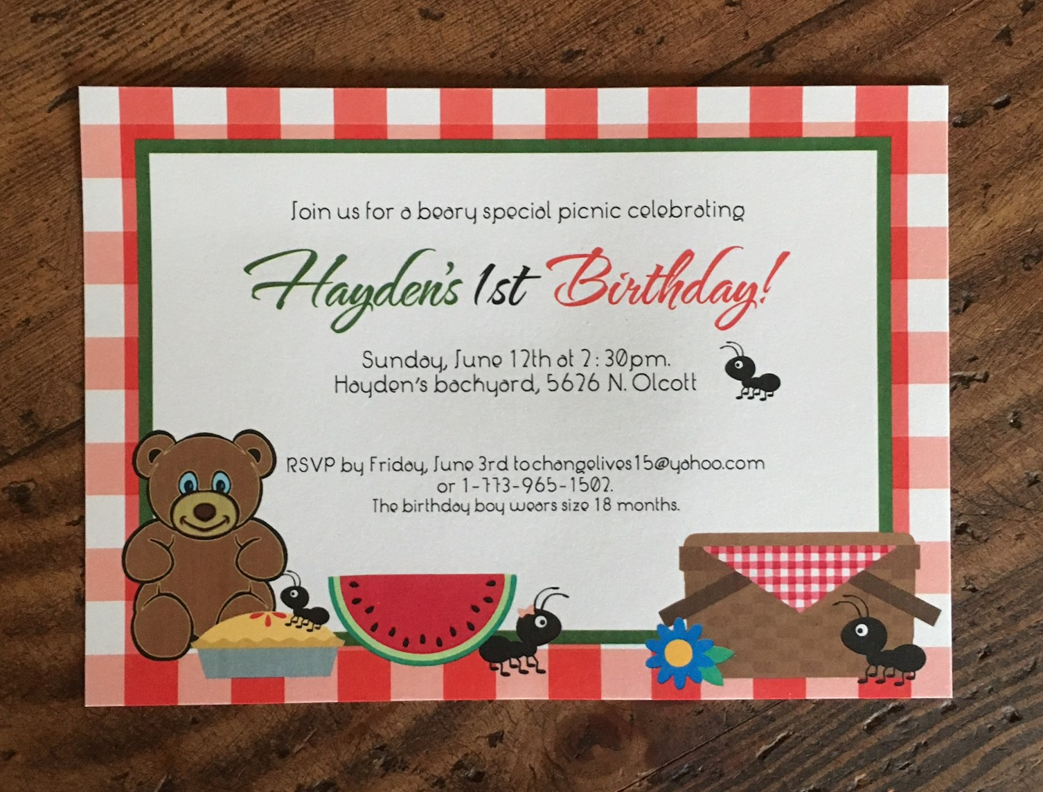 Birthday and anniversary party invitations erickson design img7468 stopboris Image collections